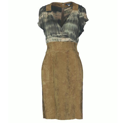 Jitrois Dress made of silk/suede leather