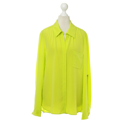 Diane von Furstenberg Silk blouse in neon green