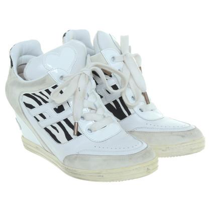 Hogan Sneakers zeppa in bianco