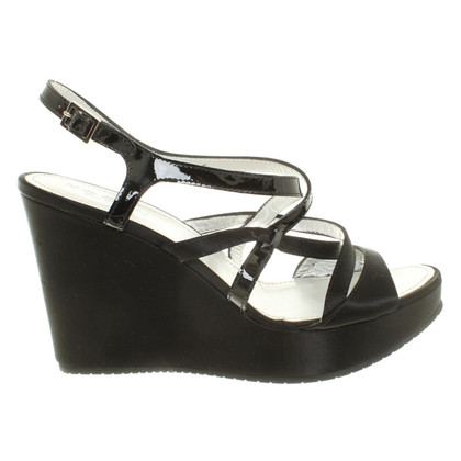 Hogan Wedges in black