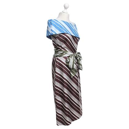 J.W. Anderson Silk dress with striped pattern