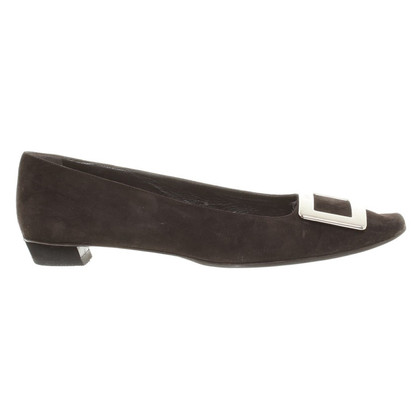 Roger Vivier Suede ballerinas in Brown