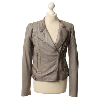 Closed Leather jacket in Taupe