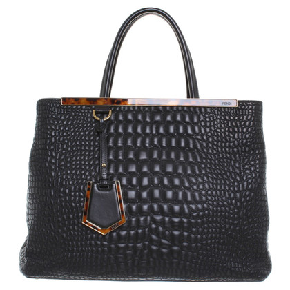 "Fendi ""2Jours"" Bag in zwart"