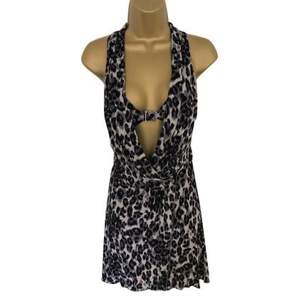 Karen Millen Paars, zwart, grijs animal print jurk