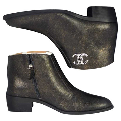 Chanel bottines en cuir