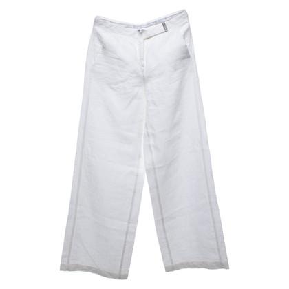 Armani Collezioni Pantaloni di lino in bianco