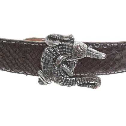 Reptile's House riem gemaakt van krokodillenleer
