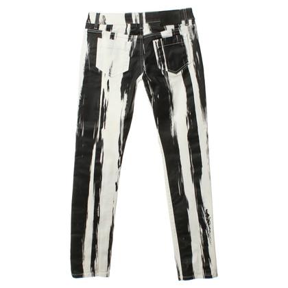 Alexander McQueen Jeans con motivo a strisce