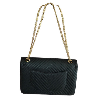"Chanel ""2,55 heruitgave Flap Bag Medium"" met Chevron quilten"