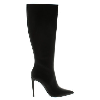 Balenciaga Black leather boot