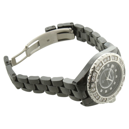Chanel J12 ceramic watch with diamonds