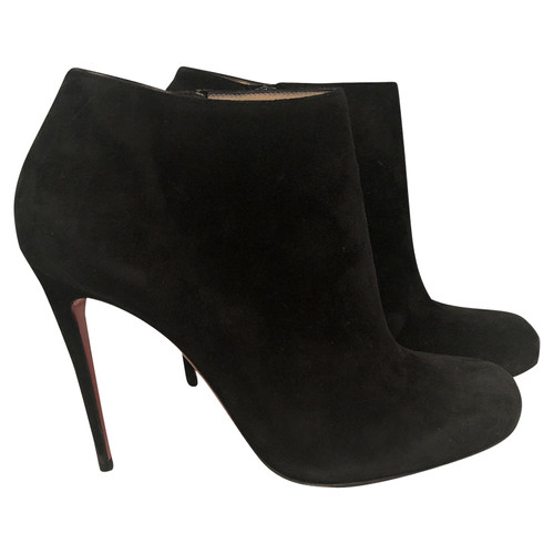 reputable site 1bb22 2ce30 Christian Louboutin Ankle boots Suede in Black - Second Hand ...