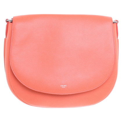 Céline Shoulder bag in coral red