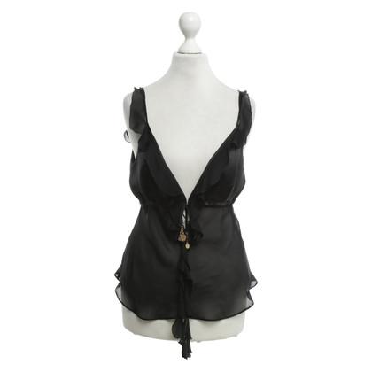 Roberto Cavalli Silk top in black