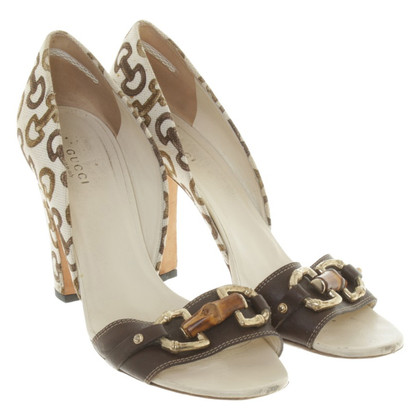 Gucci pumps met patroon