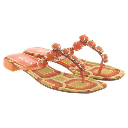 Prada Sandalen mit Muster