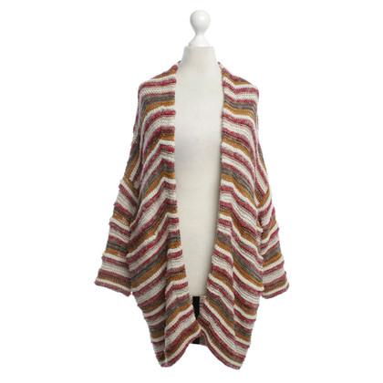 Maje Cardigan with striped pattern