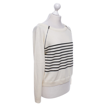 Moschino Cheap and Chic Striped pullover in black and white
