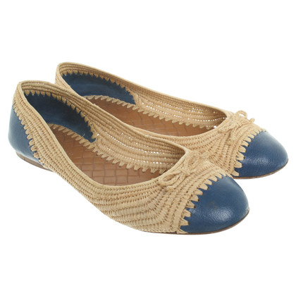 Bottega Veneta Ballerinas made of raffia / leather