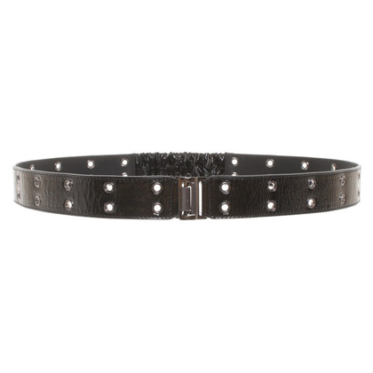 Burberry Patent leather belt in black