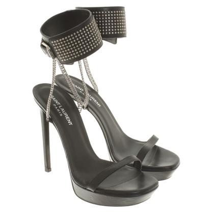 Saint Laurent Peep-toes with platform soles