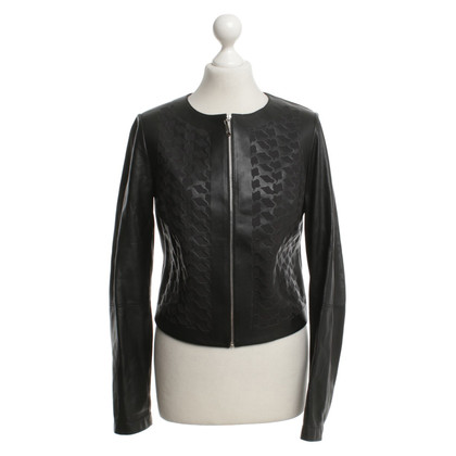 Escada Leather jacket in black