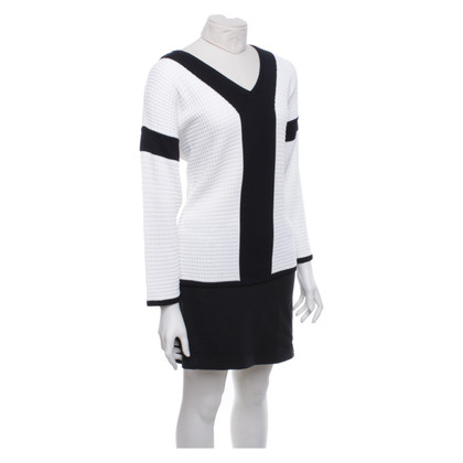 Escada Sweater in zwart / wit