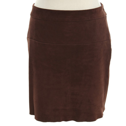 Hemisphere Leather skirt in brown