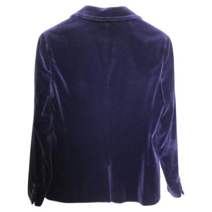 Escada Giacca di velluto viola