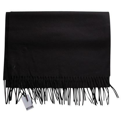 Moschino écharpe en laine noire