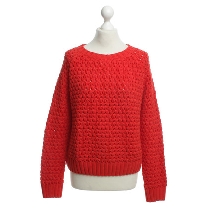 Stefanel Coarse knit sweater in red