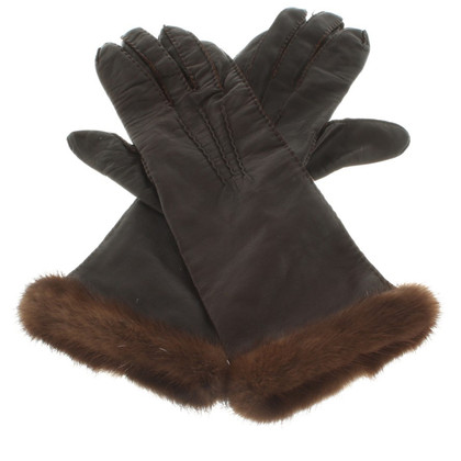 Laurèl Fur-trimmed gloves