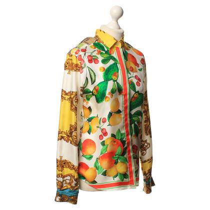 Dolce & Gabbana Zijden blouse met motief-mix