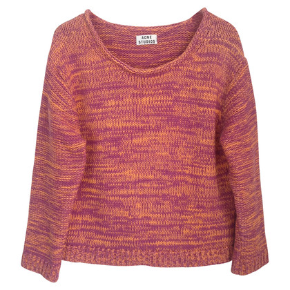 Acne Cotton sweater in pink/orange