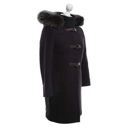 Mabrun Coat met echte bontversiering