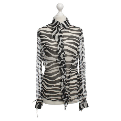 D&G Animal-print silk blouse