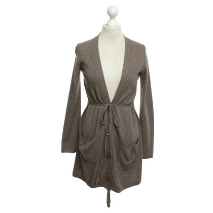 Marc Cain Lange Strickjacke in Taupe