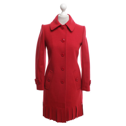 Moschino Cheap and Chic Coat in het rood