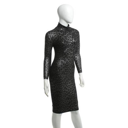Blumarine Abito in maglia con motivo leopardo