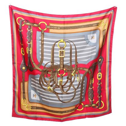 Hermès Zijden sjaal met motiefprint