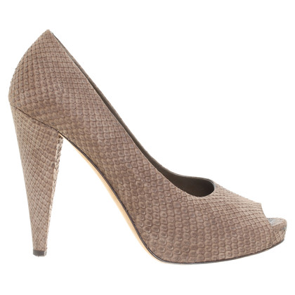 Bally Peep-toes snake leather