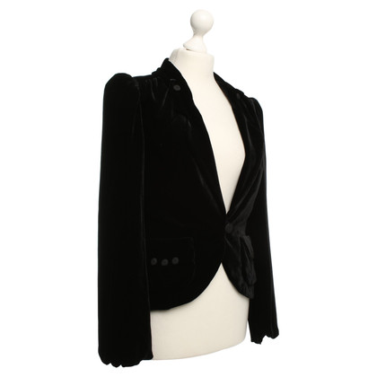 Marc by Marc Jacobs Velvet Blazer in Black