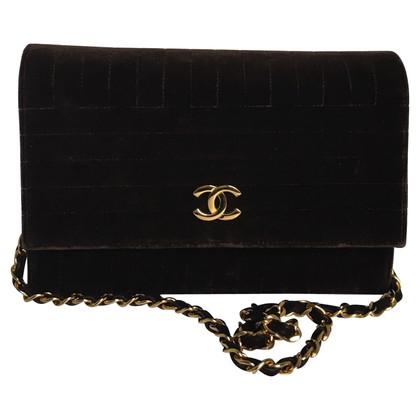 Chanel Fluweel fluweel vintage Flap Bag