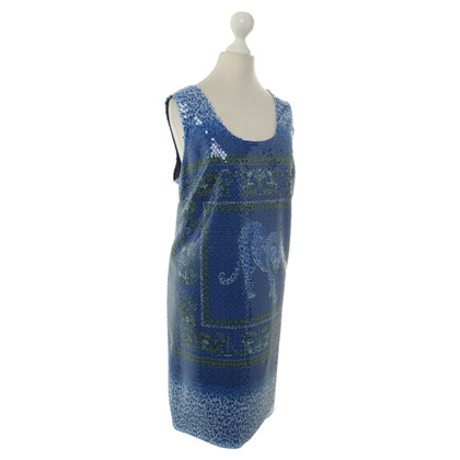 Versace Blue dress with sequins
