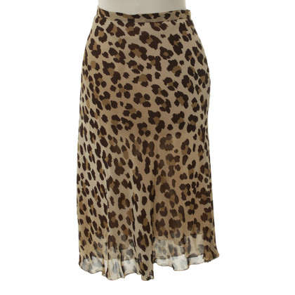 Moschino Silk skirt with Leopard print