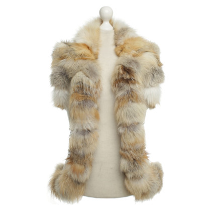 Escada Fur vest with Swarovski stones