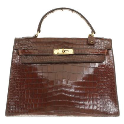 """Hermès """"Kelly Bag 32 krokodillenleer"""""""