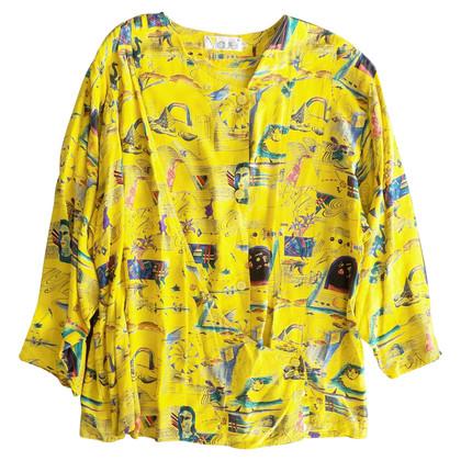 Laurèl Bedrucktes Shirt in Gelb