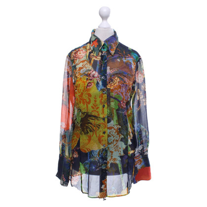 Strenesse Blouse and corsage in multi-color